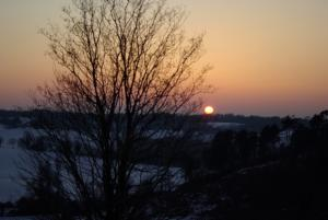coucher de soleil abbaye de maumont