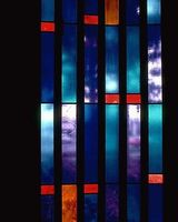 vitrail rouge abbaye maumont