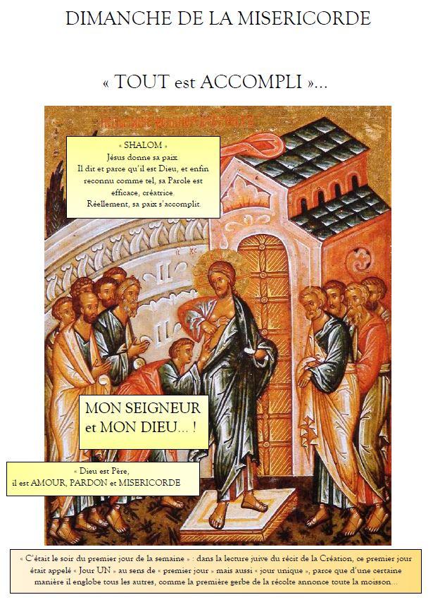 dimanche de la miséricorde2021